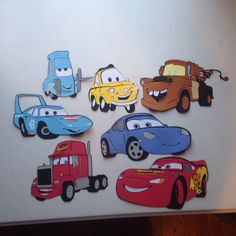 Check out Set of 7 Cars die cuts with happy birthday die cut, 5 Letters and one number on scrappinbjs