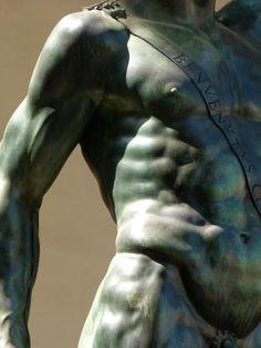 Perseus (detail), Benvenuto Cellini Loggia dei Lanzi, Florence
