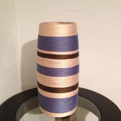 Yarn+vase+clear drying glue=inexpensive beautiful decor___Love!