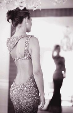 low back and sparkly dress. and I'm pretty sure Olivia Wilde is wearing it, so that doesn't hurt either.
