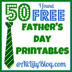 50 ideas for Father's Day