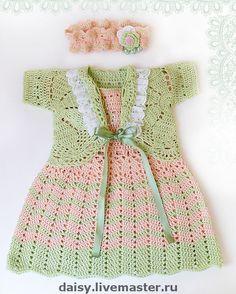 """Одежда для девочек, ручной работы. Ярмарка Мастеров - ручная работа Комплект для девочки крючком """"Сaramel baby"""" + ВИДЕО. Handmade."""
