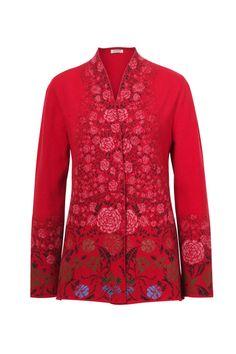 Ivko Weste Cotton Black Knopfe Rundhals Hüftlang Embroidered 191724 S-2XL sale