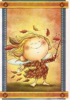 Hadas de las Estaciones - Petri Castaño - Picasa Web Albums Sweet Drawings, Autumn Crafts, Love Illustration, Autumn Activities, Art Plastique, Kids Cards, In Kindergarten, Clipart, Halloween