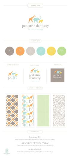 Beautiful, #modern and simple #branding. The power of #pastels! {JohnsCreek Pediatric Dentistry Branding Design by Emily McCarthy}
