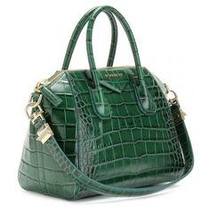 givenchy green croc antigona bag
