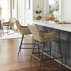 Mix and mingle with friends on a bar stool or coutner stool for any occasion! Find bar stools, kitchen stools, counter stools, bar chairs and bar furniture at Ballard Designs. Plywood Furniture, Kitchen Furniture, Kitchen Decor, Kitchen Design, Office Furniture, Industrial Furniture, Kitchen Ideas, Furniture Design, Outdoor Furniture