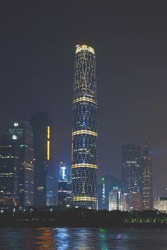 "visualechoess: ""Night Guangzhou by Alexander Vinogradov """