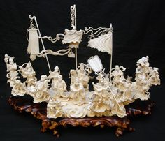 CHINESE CARVED IVORY 'BATTLE OF ZHOULU' GROUP An large and impressive Chinese hand carved ivory group depicting an interpretation of the 'Battle of Zhuolu'. Scene depicts 21 warriors, archers, infantry, General, women and children. - See more at: http://eliteauction.com/catalogues/031713/view.php?id=438#sthash.v78t9eKb.dpuf