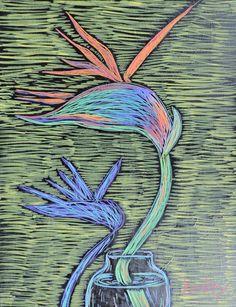 #BirdOfParadise #Art #Artwork #Painting #Abstract #ContemporaryArt #ModernArt #Flower #Plant #Tropical