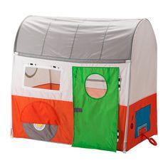 IKEA - HEMMAHOS, Speeltent, , Met wat fantasie en een caravan op sleeptouw kan je overal naartoe reizen. Wie weet, misschien ontmoet je in de keuken wel tijgers en leeuwen of ontmoet je in de woonkamer een stel cowboys.