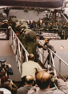 Elvis Presley arriving in Germany with the U.S. Army (1958)