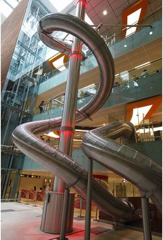 As will adults. If you spend $10 at any airport venue, you're eligible to ride the slide.