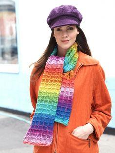 Waffle Stitch Scarf | Yarn | Free Knitting Patterns | Crochet Patterns | Yarnspirations