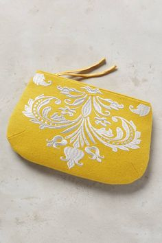Embroidered Gigue Pouch | Pinned by topista.com