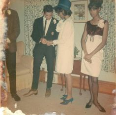 1966 wedding. Beehives, kitten heels, and pointy toes  :-)
