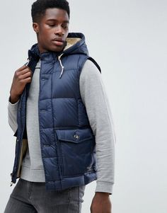Abercrombie & Fitch Puffer Tank in Navy - Navy
