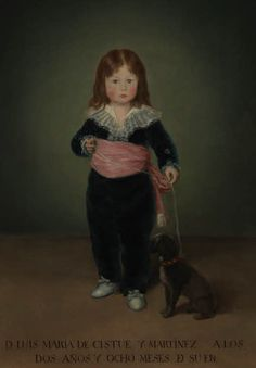 Goya y Lucientes, Francisco de - Portrait de Luisa Maria de Cistue y Martinez, Louvre, Paris
