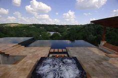 A Fireplace In Your Infinity Pool