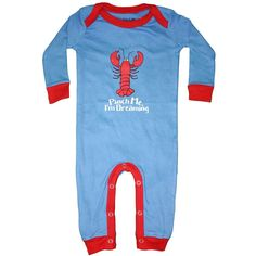 Lobster Pinch Me I'm Dreaming Infant Coveralls