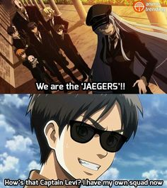 "And finally Eren got his own squad - ""The Jaegers"" 