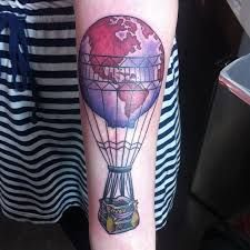Image result for hot air balloon and compass tattoo