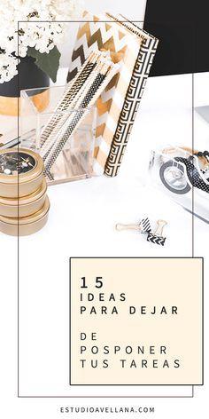 15 IDEAS para cumplir con un organizador de tareas