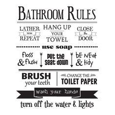 Afbeeldingsresultaat voor bathroom rules