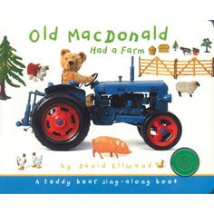 """$12.95 - E-I-E-I-O! • Join Teddy down on Old MacDonald?s farm for some delightful sing-along fun in this new Teddy Bear Sing-Along title. • By pressing a button on the cover, little ones can listen to the classic children?s song """"Old MacDonald Had a Farm"""" while they flip through the pages of this adorable book. • Critically acclaimed photographer David Ellwand has created a sweet, whimsical world starring antique toys, including a lovable teddy bear and his farmyard friends. • T..."""