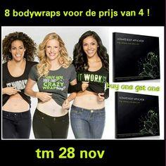 Till tonight only.  Send me a message :)  #blackfriday  Buy 4 bodywraps get 8 !!
