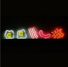 English fry up neon Pinterest// @leonselenaa