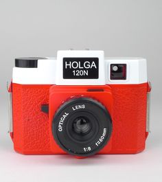 Holga 120N Camera Red & White $85.50 NZD