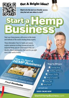 Ready for something different? Start A Hemp Business...