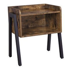 SONGMICS Vintage Nightstand, Stackable End Table, Cabinet for Storage, Side Table for Small Spaces, Wood Look Accent Furniture Metal Frame – Best Decoration Club Accent Furniture, Pallet Furniture, Living Room Furniture, Furniture Stores, Furniture Decor, Table For Small Space, Small Spaces, Industrial Side Table, Industrial Design