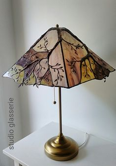 Simple and Modern Tips and Tricks: Lamp Shades Handmade Design lamp shades industrial wall sconces.Old Lamp Shades Master Bedrooms. Stained Glass Lamp Shades, Stained Glass Light, Stained Glass Designs, Stained Glass Projects, Stained Glass Patterns, Stained Glass Windows, Painting Lamp Shades, Painting Lamps, Oil Lamps