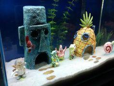 como fazer um aquário em casa bob esponja
