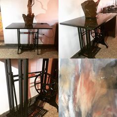 """Chantal Vieira on Instagram: """"Création table Singer revisité"""" Entryway Tables, Creations, Instagram, Furniture, Home Decor, Decoration Home, Room Decor, Home Furnishings, Home Interior Design"""
