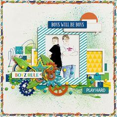 Sweet Shoppe Designs::Digital Scrap Kits::Boy Town by Melissa Bennett