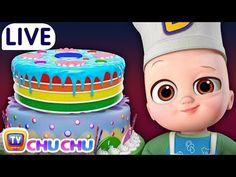 Pat a Cake + Many more Baby Nursery Rhymes & Kids Songs - ChuChu TV LIVE - YouTube