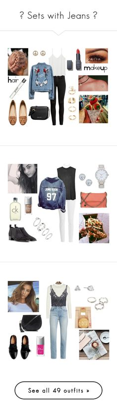 """""""🌠 Sets with Jeans 🌠"""" by milena-serranista ❤ liked on Polyvore featuring Forever 21, MANGO, H&M, 1&20 Blackbirds, NARS Cosmetics, MICHAEL Michael Kors, philosophy, Paige Denim, Boutique and Acne Studios"""