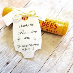 thanks for being here gift tags bumble bee baby shower burts bees