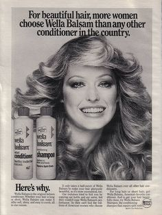 Wella Balsam Shampoo & Conditioner Advertisment 1976 by jackie121467, via Flickr