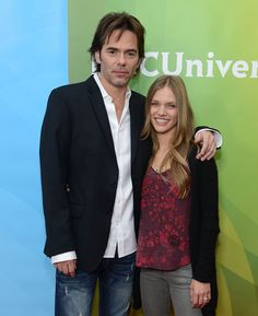 """Billy Burke Photos - Billy Burke and Tracy Spiridakos attend NBCUniversal's Winter TCA Tour"""" Day 1 at Langham Hotel on January 2013 in Pasadena, California. - Billy Burke Photos - 173 of 438 David Lyons, Stephen Collins, Tracy Spiridakos, Billy Burke, Elizabeth Mitchell, Langham Hotel, Old Tv, Celebs, Celebrities"""