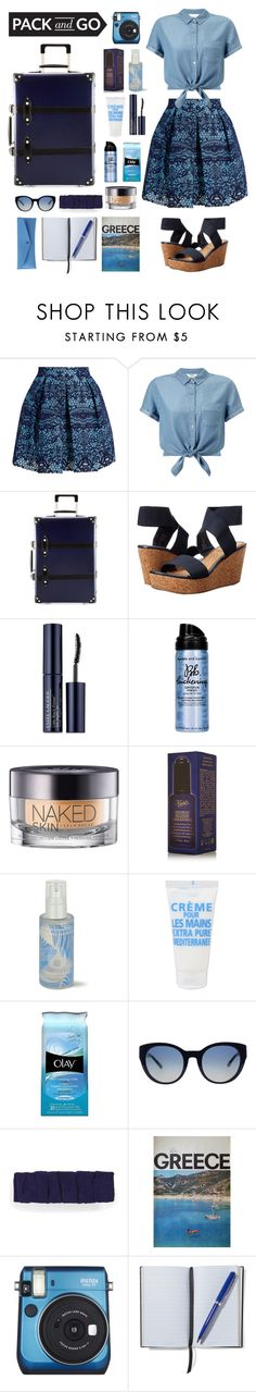 """Deep Blue Sea"" by teaandcupcakes22 ❤ liked on Polyvore featuring Maje, Miss Selfridge, Globe-Trotter, Volatile, Estée Lauder, Bumble and bumble, Urban Decay, Kiehl's, Omorovicza and La Compagnie de Provence"