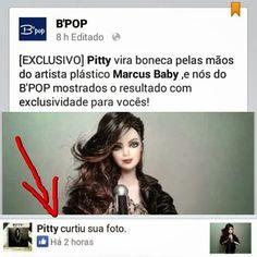 """BONECOS DO BABY: Pitty curtiu sua nova boneca versão """"Sete Vidas"""" by Marcus Baby => http://www.bonecosdobaby.blogspot.com.br/2015/04/pitty-curtiu-sua-nova-boneca-versao.html"""