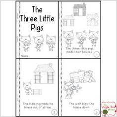 Resultado de imagen para sequencing worksheet story the three little pigs picture 3 Little Pigs Activities, Fairy Tale Activities, Rhyming Activities, Kindergarten Activities, Book Activities, Sequencing Worksheets, Story Sequencing, Three Little Pigs Story, Pig Crafts