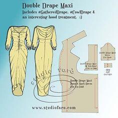 Pattern Puzzle - Double Drape Maxi
