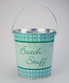 Take a look at this 'Beach Stuff' Large Bucket on zulily today!