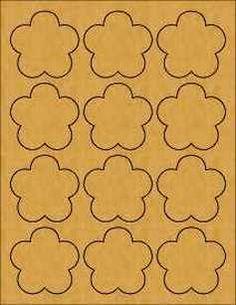 Brown Kraft Flower Labels  #supplies_sources #crafts