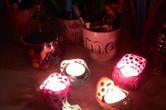 Lysestager af fimoler | Kreativ med ungerne